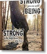 Strong Quote - Photo Art Metal Print