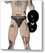 Strongest Man Fighter  Metal Print