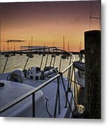 Stuart Marina At Sunset Metal Print