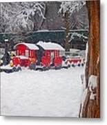 Stuck Train Metal Print by Richie Stewart