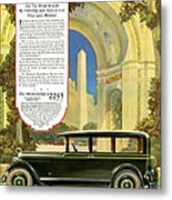 Studebaker Big Six - Vintage Car Poster Metal Print