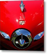 Studebaker In Red Metal Print