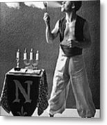 Student Works As Fire-eater Metal Print