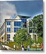 Students On Campus Metal Print