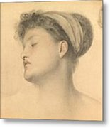 Study For Girl With Doves Metal Print
