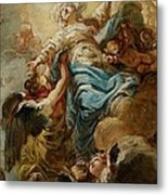 Study For The Assumption Of The Virgin Metal Print