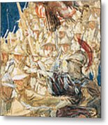 Study For The Coming Of The Americans Metal Print