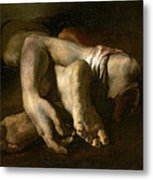 Study Of Feet And Hands, C.1818-19 Oil On Canvas Metal Print