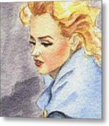 study of Marilyn Monroe Metal Print