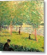 Study On La Grande Jatte Metal Print