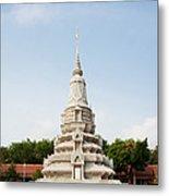 Stupa At The Silver Pagoda, Cambodia Metal Print