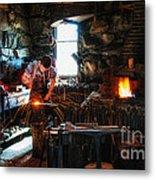 Sturbridge Village Blacksmith Metal Print
