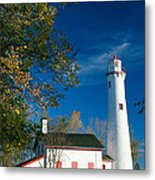 Sturgeon Point Lighthouse Metal Print
