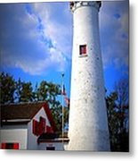 Sturgeon Point Lighthouse Michigan Metal Print