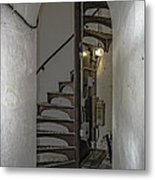Sturgeon Point Lighthouse Spiral Staircase Metal Print