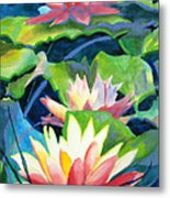 Styalized Lily Pads 3 Metal Print
