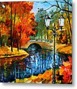 Sublime Park - Palette Knife Oil Painting On Canvas By Leonid Afremov Metal Print