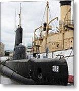 Submarine 319 On Delaware River  Metal Print