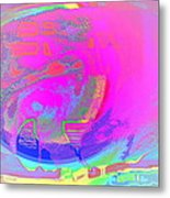 We All Live In A Pink Submarine Metal Print