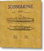 Submarine Patent 7 Metal Print