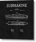 Submarine Patent 8 Metal Print