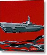 Submarine Sandwhich Metal Print