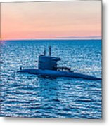 Submarine Sunset Metal Print