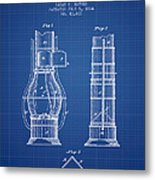 Submarine Telescope Patent From 1864 - Blueprint Metal Print