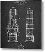 Submarine Telescope Patent From 1864 - Dark Metal Print