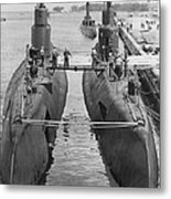Submarines At Port Metal Print by Retro Images Archive