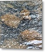 Submerged Stone Abstract Metal Print