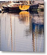 Subtle Colored Marina Reflections Metal Print