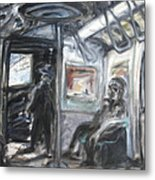 Subway Car Interior Metal Print