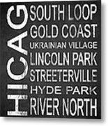 Subway Chicago 2 Metal Print