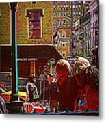 Subway - Late Afternoon Rush On A Cold Day Metal Print