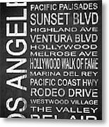 Subway Los Angeles 2 Metal Print