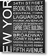 Subway New York 3 Metal Print