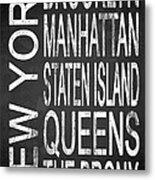 Subway New York 4 Metal Print