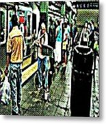 Subway Seranade Metal Print