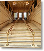 Subway Station Staircase,chicago Metal Print