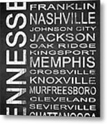Subway Tennessee State 1 Metal Print