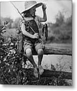 Successful Day Of Fishing  1919 Metal Print by Daniel Hagerman