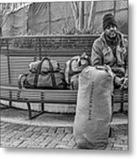 Such A Long Journey Bw Metal Print