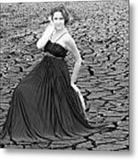 An Image Of Elegance Black And White Metal Print