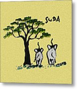 Suda Canvas Yellow Metal Print