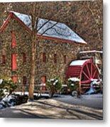 Sudbury Wintery Grist Mill Metal Print