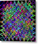 Sudoku Connections Wave Metal Print