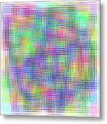 Sudoku Connections White Glass Mosaic Metal Print