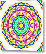 Sudoku Connections White Kaleidoscope Metal Print