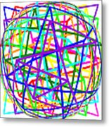 Sudoku Connections White Spherize Metal Print